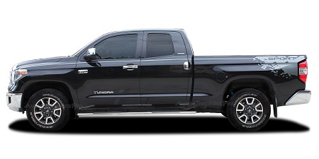 2014-2021 Toyota Tundra Decals BURST Side Bed and Upper Body Accent Stripes 3M Vinyl Graphics Kit
