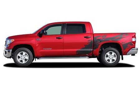2014-2017 Toyota Tundra SHREDDER Hood and Truck Bed Decal 3M Vinyl Graphics Kit