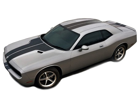 2008-2014 Dodge Challenger RALLY STRIPES PLUS Mopar Style Racing Vinyl Graphics