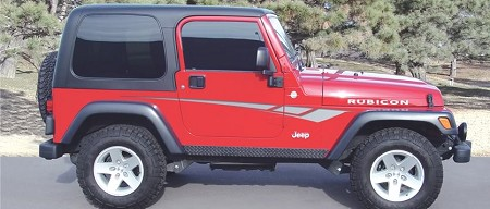Jeep Wrangler OCTANE Universal Fit Vinyl Decal Graphic Stripes