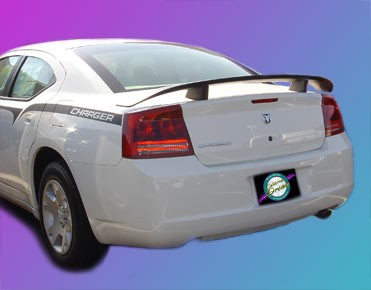 Dodge Charger RT : Painted Rear Spoiler Wing fits 2006-2013 Models