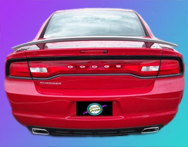 Dodge Charger : Painted Rear Spoiler Wing fits 2006-2013 Models
