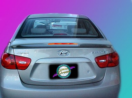 Hyundai Elantra : Painted Rear Spoiler Wing fits 2007-2010 Models