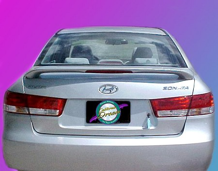 Hyundai Sonata : Painted Rear Spoiler Wing fits 2006-2010 Models