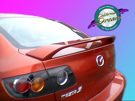 Mazda 3 : Painted Rear Spoiler Wing fits 2004-2009 Models
